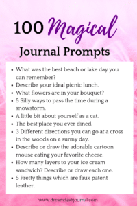 magical journal prompts