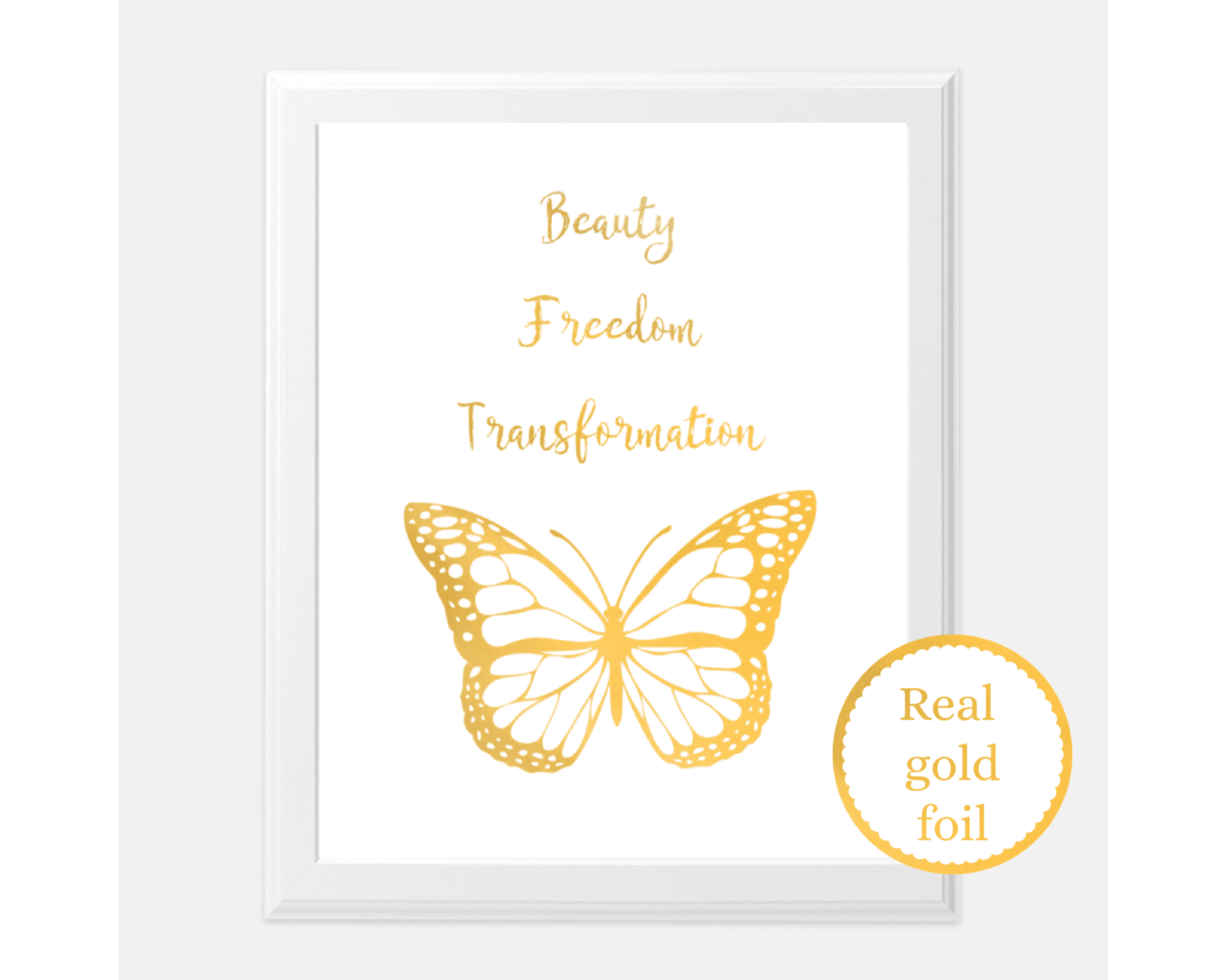 beauty freedom transformation print
