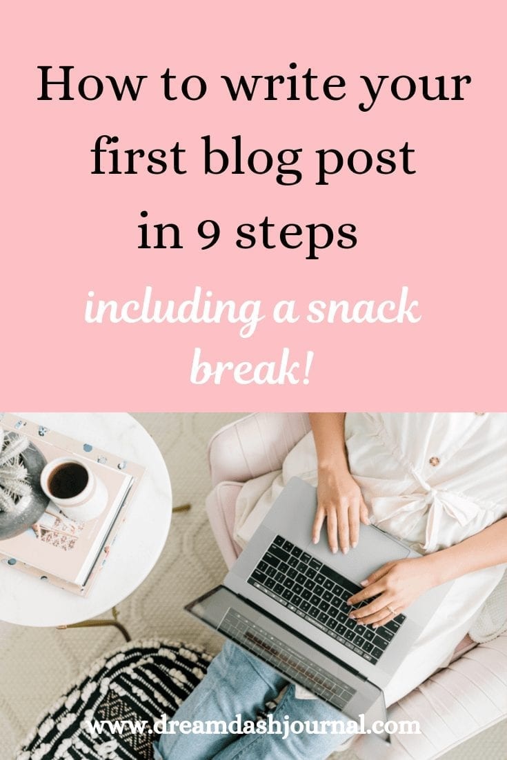 how to write your first blog course