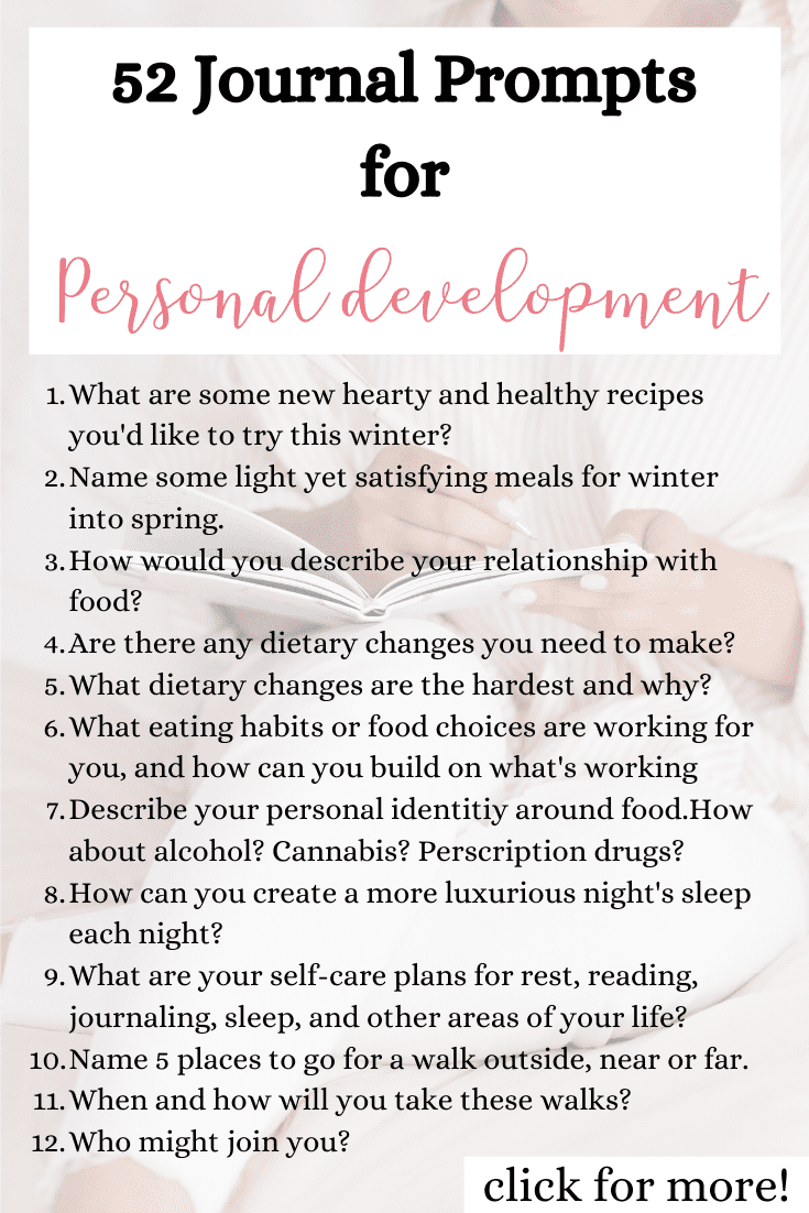 52 Journal Prompts For Personal Development {+ PDF Printable Worksheet!}