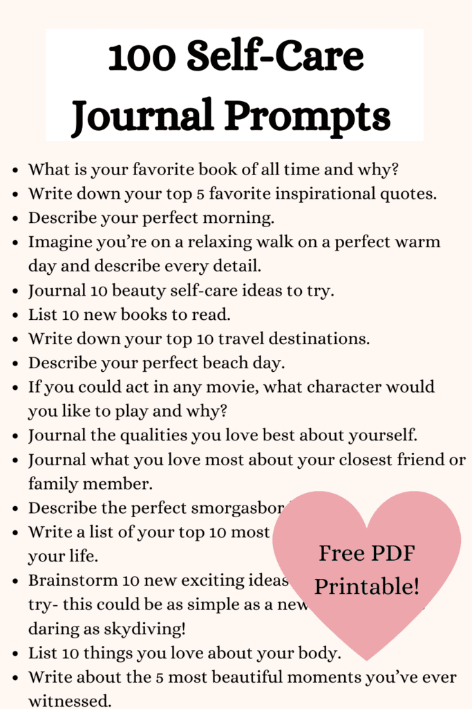 self care journal prompts