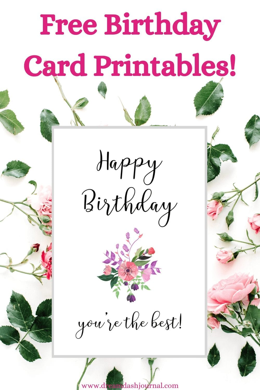 Cute Printable Birthday Cards For Her {Pretty & Free PDF Download!}