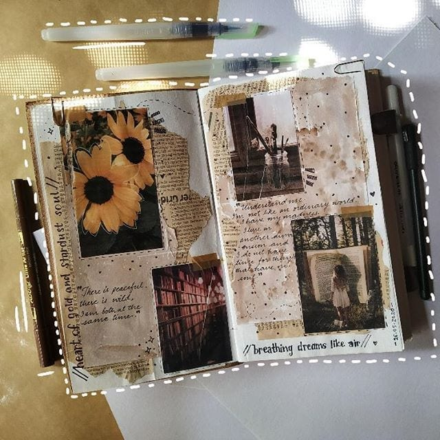 art journal page ideas