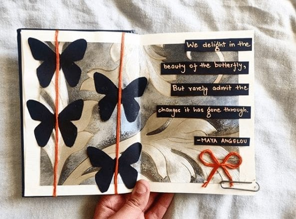 creative art journal pages