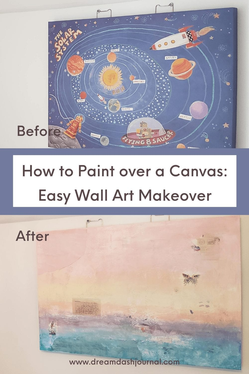 paint over canvas painting