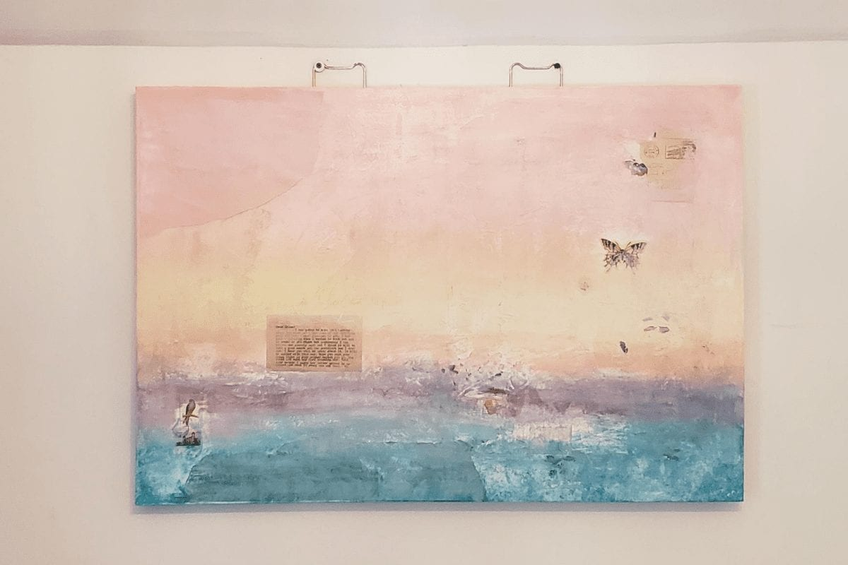 mixed media wall art makeover