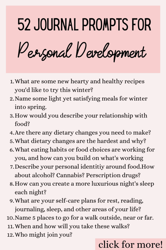 journal prompts for personal development