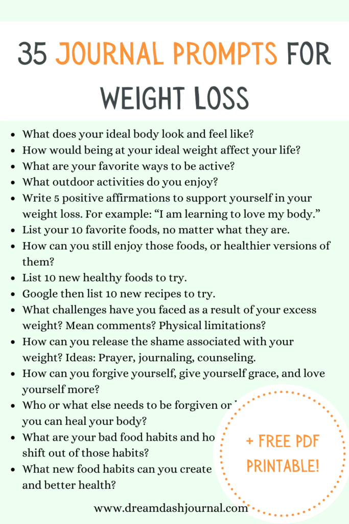 journal prompts for weight loss