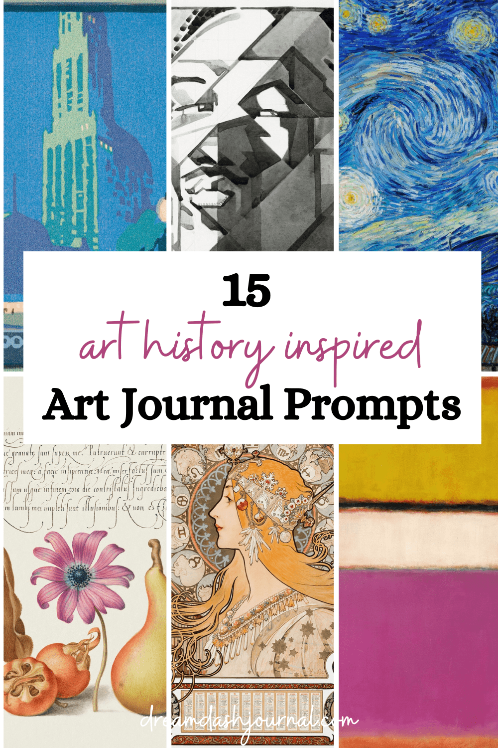 15 Art History-Inspired Art Journal Prompts {With Free PDF Journal Prompts!}