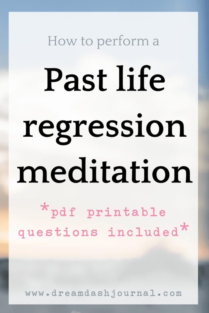 past life regression meditation