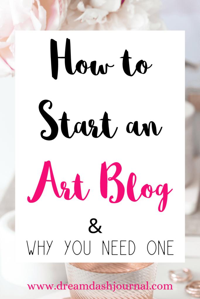 start an art blog